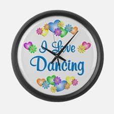 I Love Dancing Large Wall Clock