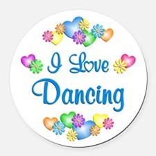 I Love Dancing Round Car Magnet