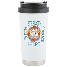 Faith Strength Courage Travel Coffee Mug