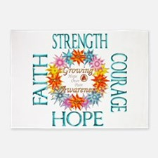 Faith Strength Courage CRPS RSD Awa 5'x7'Area Rug