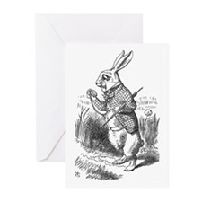 White Rabbit Greeting Cards (Pk of 10)