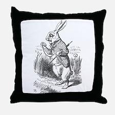 White Rabbit Throw Pillow