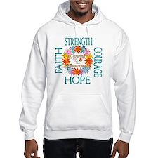 Faith Strength Courage CRPS RSD Hoodie