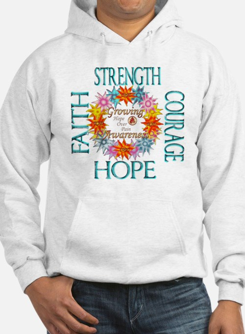 Faith Strength Courage CRPS RSD Hoodie