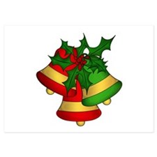 Christmas Bells and Holly Invitations