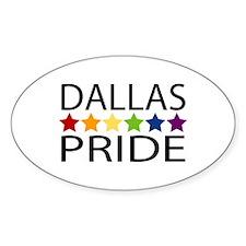 Dallas Pride Oval Decal