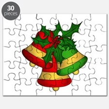 Christmas Bells and Holly Puzzle