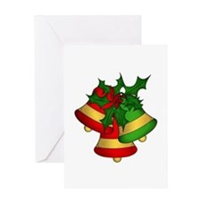 Christmas Bells and Holly Greeting Cards