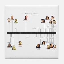 Philosophy Timeline Tile Coaster