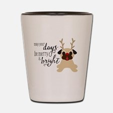 Funny Santa pug Shot Glass