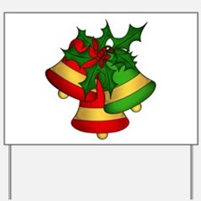 Christmas Bells and Holly Yard Sign