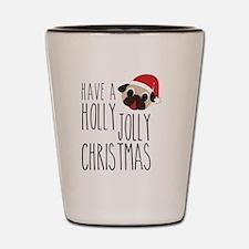 Christmas Santa Pug - Holly Jolly Shot Glass