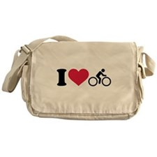 I love cycling bike Messenger Bag
