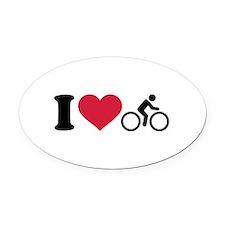 I love cycling bike Oval Car Magnet