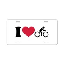 I love cycling bike Aluminum License Plate
