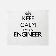 Keep calm I'm an Engineer Throw Blanket