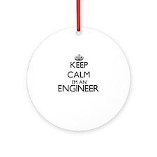 Keep calm I'm an Engineer Ornament (Round)