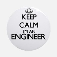 Keep calm I'm an Engineer Ornament (Round)