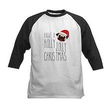 Christmas Santa Pug - Holly Jolly Baseball Jersey