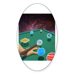 Planet Pool Oval Decal