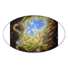 Toaster Passes Nebula Oval Decal