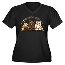 Chinese Shar Pei Lover Plus Size T-Shirt