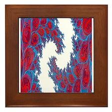 Fractal Explosion Framed Tile