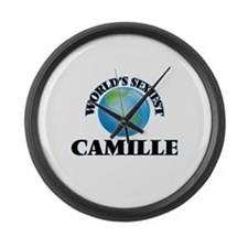 World's Sexiest Camille Large Wall Clock