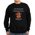 Christmas Kitten Sweatshirt (dark)