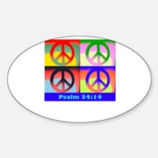 Andy peace sign Oval Decal