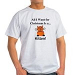 Christmas Kitten Light T-Shirt