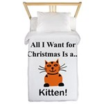 Christmas Kitten Twin Duvet
