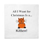 Christmas Kitten Queen Duvet