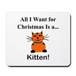 Christmas Kitten Mousepad