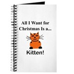 Christmas Kitten Journal