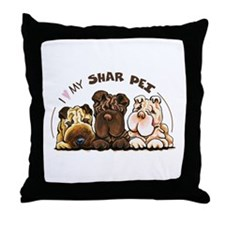Chinese Shar Pei Lover Throw Pillow