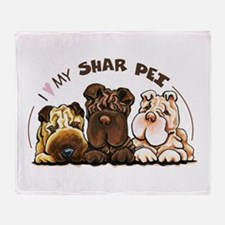 Chinese Shar Pei Lover Throw Blanket