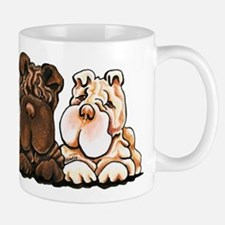 3 Chinese Shar Pei Mugs