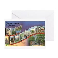 Greetings from New Hampshire Greeting Cards (Packa
