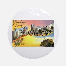 Greetings from New Jersey Ornament (Round)
