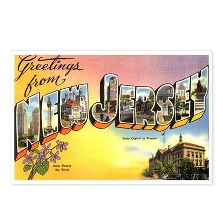 Greetings from New Jersey Postcards (Package of 8)
