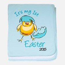 It's My First Easter 2015 baby blanket