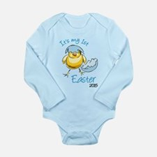 It's My First Easter 2 Long Sleeve Infant Bodysuit