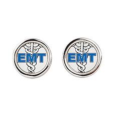 EMT-Paramedic Round Cufflinks