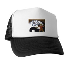 Robot vs Samurai Trucker Hat