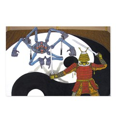Robot vs Samurai Postcards (Package of 8)