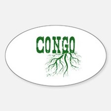 Congo Roots Sticker (Oval)