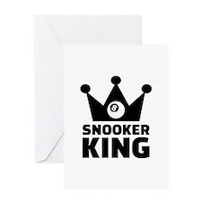 Snooker king crown Greeting Card
