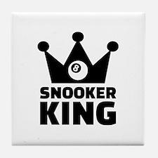 Snooker king crown Tile Coaster
