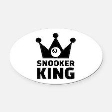 Snooker king crown Oval Car Magnet